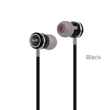 HOCO M16 Słuchawki przewodowe jack 3,5 mm douszne lekkie z mikrofonem i sterowaniem na kablu czarne