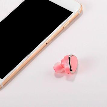 HOCO Słuchawka E7 bluetooth 4.1 z mikrofonem różowa