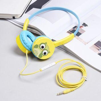 HOCO W15 Kolorowe słuchawki z mikrofonem i sterowaniem za pomocą jednego przycisku Miękkie nauszniki Membrana 36mm Jack 3,5mm Kolor błękitno-żółty
