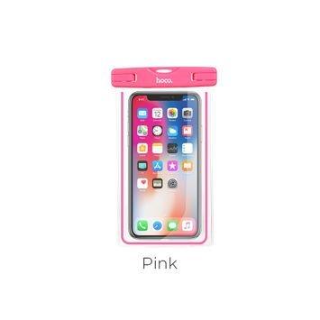 HOCO Wodoszczelne uniwersalne etui zabezpiecza smartfon aparat do głębokości 20m Kolor różowy