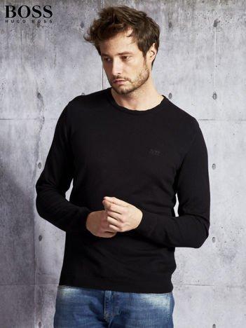 HUGO BOSS Czarny sweter męski