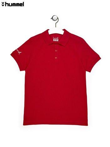 HUMMEL Czerwona chłopięca koszulka polo
