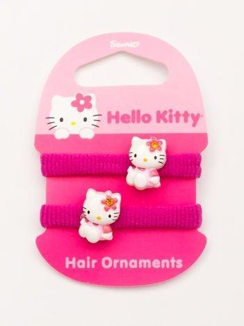 Hello Kitty Komplet 2 gumek-frotek do włosów