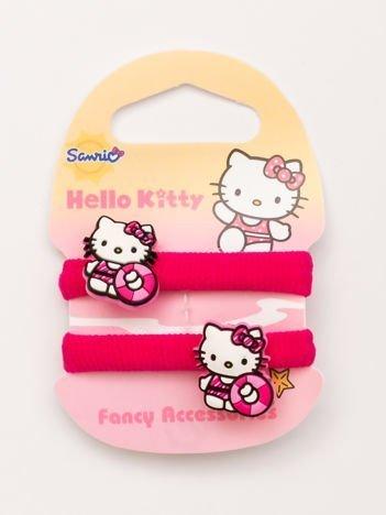 Hello Kitty Komplet 2 gumek-frotek do włosów dla dziewczynki