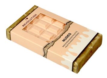 I Heart Revolution Mini Chocolate Palette Mini Paletka 8 cieni do powiek Nudes 2.7g