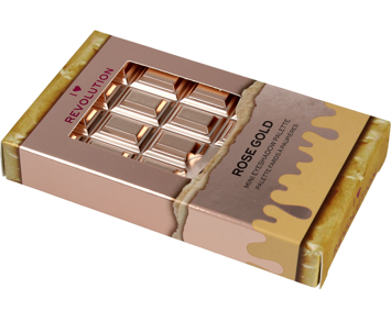 I Heart Revolution Mini Chocolate Palette Mini Paletka 8 cieni do powiek Rose Gold 2.7g