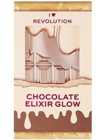 I Heart Revolution Mini Chocolate Palette Mini Paletka rozświetlaczy Chocolate Elixir Glow 2.7g