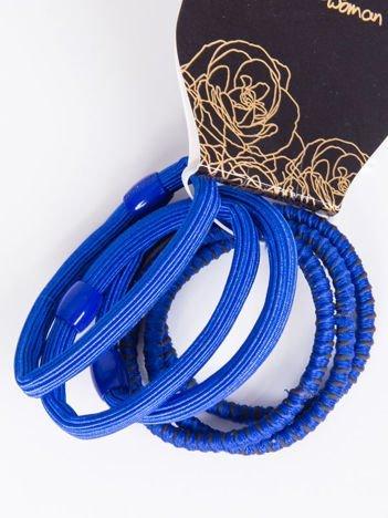 INCA Komplet kolorowych gumek do włosów w odcieniach chabru 6 szt.