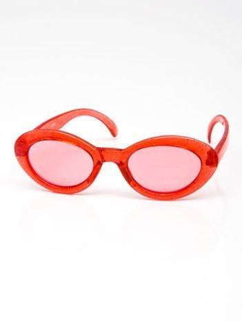 INCA Okulary dziecięce czerwone z brokatem