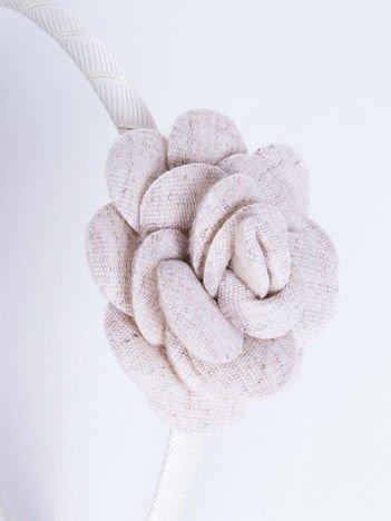 INCA Opaska do włosów ecru z ozdobną różą