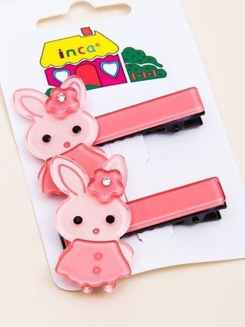 INCA Spinki do włosów różowe króliczki komplet 2 szt.