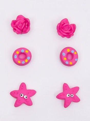 INCA Zestaw kolczyków różowych dla dziewczynki