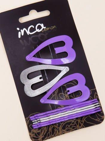 INCA Zestaw spinkek do włosów pyki + wsuwki komplet 9 szt.