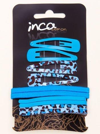 INCA Zestaw spinkek i gumek do włosów pyki + wsuwki komplet 10 szt.