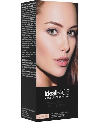 INGRID PODKŁAD KRYJĄCY IDEAL FACE 015 - NATURAL 30 ml