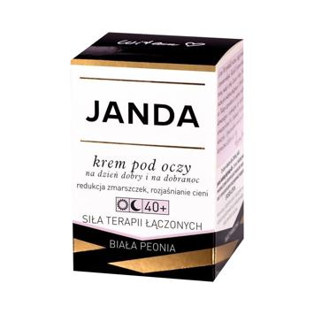 """JANDA 40+ Krem pod oczy na dzień dobry i na dobranoc redukujący zmarszczki 15ml"""""""