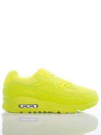 Jaskrawolimonkowe buty sportowe na sprężystej podeszwie