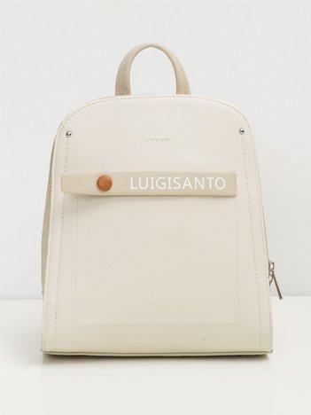 Jasnobeżowy elegancki plecak z ekoskóry
