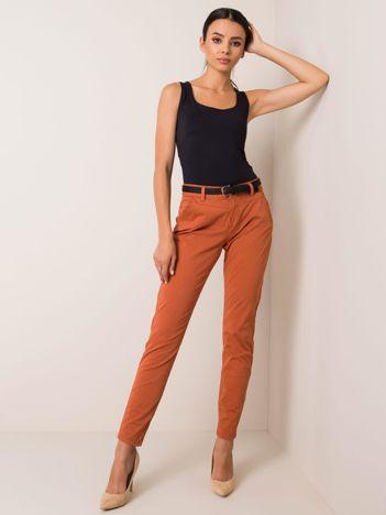 Jasnobrązowe spodnie Crush