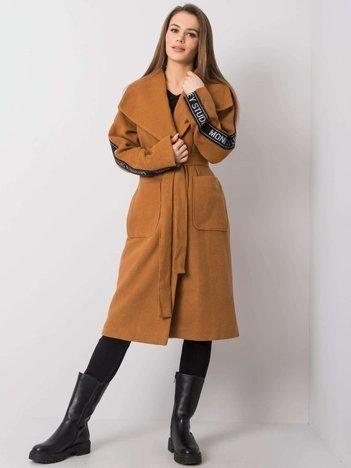 Jasnobrązowy płaszcz Danni