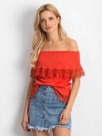 Jasnoczerwona bluzka Having