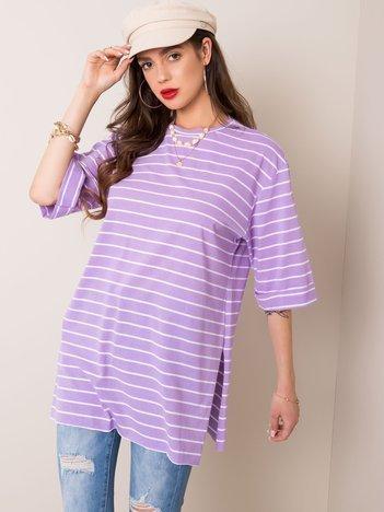 Jasnofioletowy t-shirt Revel RUE PARIS
