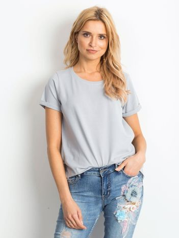 Jasnografitowy t-shirt Transformative
