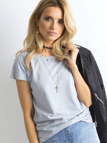 Jasnografitowy t-shirt basic