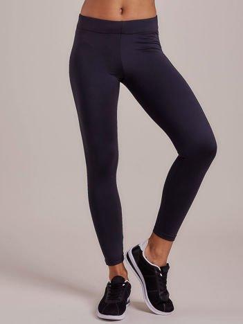Jasnogranatowe legginsy damskie