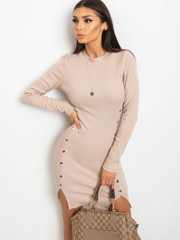 Jasnokawowa sukienka Fabulous
