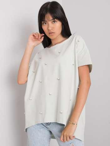 Jasnomiętowa bluzka z aplikacją Etty