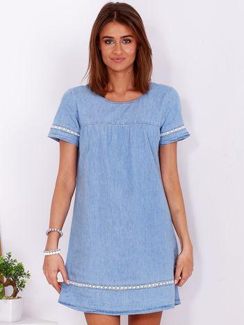 Jasnoniebieska bawełniana sukienka z denimu
