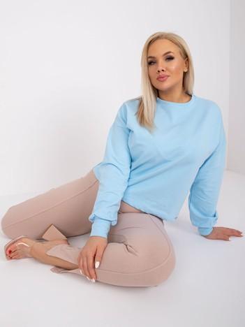 Jasnoniebieska bluza plus size Florentia
