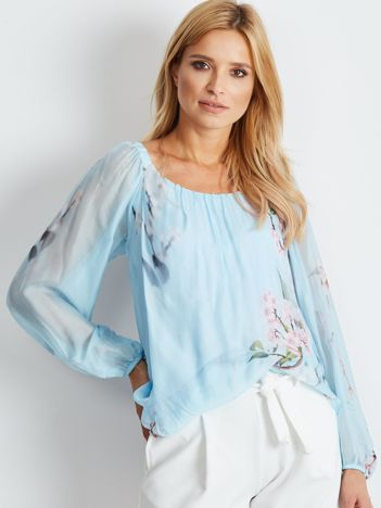 Jasnoniebieska bluzka Espana