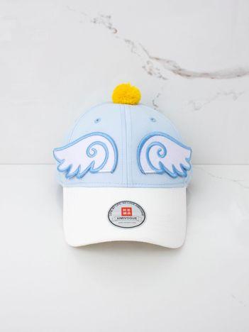 Jasnoniebieska dziecięca czapka z daszkiem