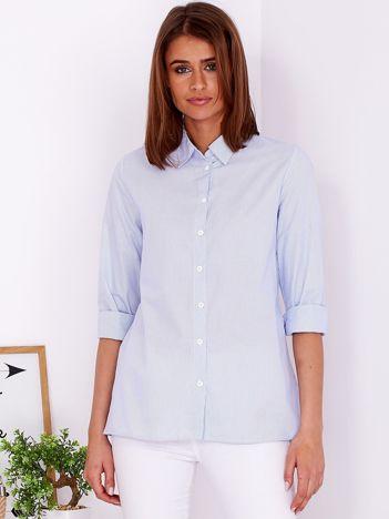 Jasnoniebieska koszula w paski