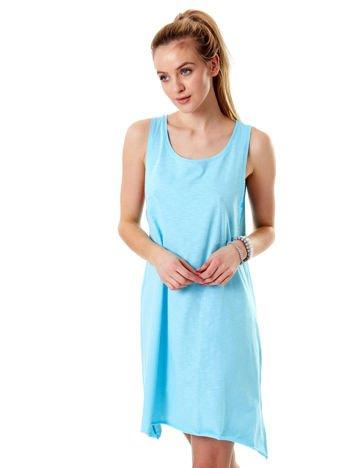 Jasnoniebieska luźna sukienka