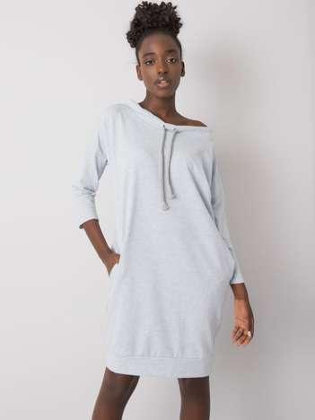 Jasnoniebieska melanżowa sukienka Raphaelle