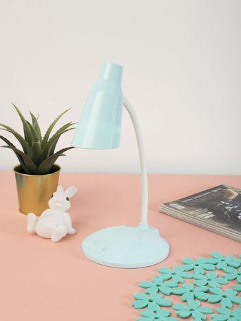 Jasnoniebieska pastelowa lampka biurkowa LED USB