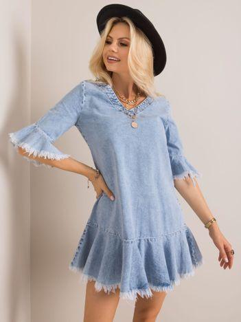 Jasnoniebieska sukienka Lydia RUE PARIS