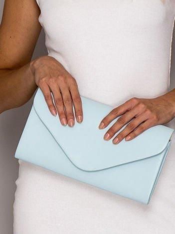 Jasnoniebieska torebka kopertówka