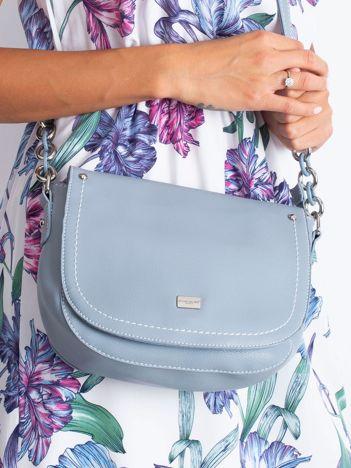 Jasnoniebieska torebka z klapką