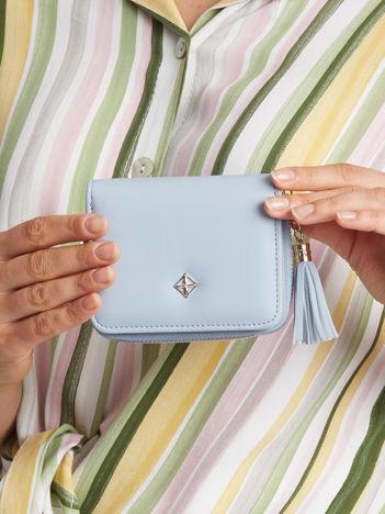 Jasnoniebieski mały portfel dla kobiet