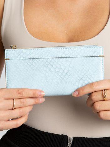 Jasnoniebieski portfel damski z eko skóry