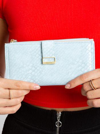 Jasnoniebieski portfel z eko skóry