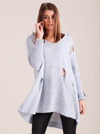 Jasnoniebieski sweter z kapturem MAGPIE