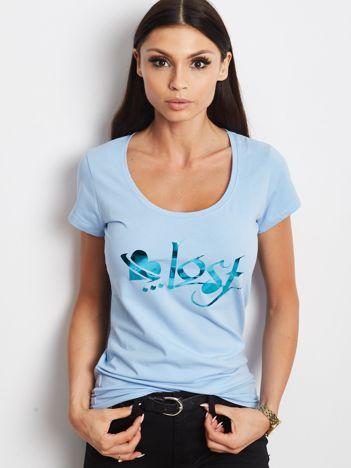 Jasnoniebieski t-shirt Lost