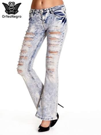 Jasnoniebieskie spodnie jeansowe dzowny cut out
