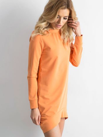 Jasnopomarańczowa dresowa tunika basic