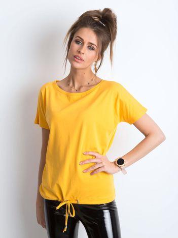 Jasnopomarańczowy t-shirt Curiosity